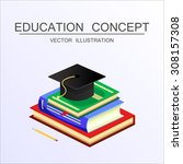 beautiful isometric education... | Shutterstock .eps vector #308157308