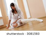 sexy girl with white dress and... | Shutterstock . vector #3081583