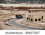 Military area - Sinai peninsula - stock photo