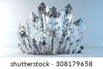 Quartz Crystals Growing