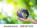 safe world concept . hand... | Shutterstock . vector #308187320