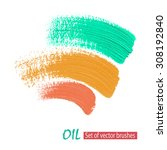 billets vector grunge brushes... | Shutterstock .eps vector #308192840