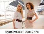 two fashionable girls on... | Shutterstock . vector #30819778