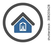 home vector icon. this rounded... | Shutterstock .eps vector #308203628