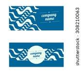 vintage creative cards  hipster ... | Shutterstock .eps vector #308210063
