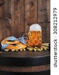 original bavarian oktoberfest...   Shutterstock . vector #308212979