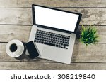 work space  laptop | Shutterstock . vector #308219840