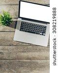 work space  laptop | Shutterstock . vector #308219888
