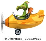 fun dragon | Shutterstock . vector #308229893