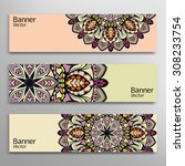 graphic trendy banners set.... | Shutterstock .eps vector #308233754