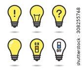 6 bulb design   Shutterstock .eps vector #308255768
