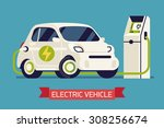electric subcompact vehicle...   Shutterstock .eps vector #308256674