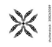 tribal tattoo vector designs... | Shutterstock .eps vector #308265089