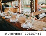 decorations made of wood and... | Shutterstock . vector #308267468