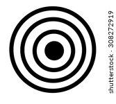 black target | Shutterstock .eps vector #308272919