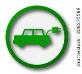 electric car icon. internet... | Shutterstock . vector #308275589