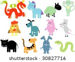 Vector Set Of New Geo Animals 32