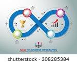 infinity shape  template modern ... | Shutterstock .eps vector #308285384