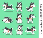 cartoon character siberian... | Shutterstock .eps vector #308292629