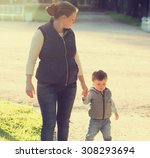 family mother with child son... | Shutterstock . vector #308293694