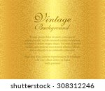 luxury golden background with... | Shutterstock .eps vector #308312246