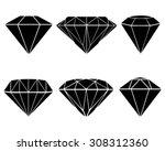 black silhouettes of diamond ...   Shutterstock .eps vector #308312360
