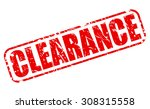 clearance red stamp text on... | Shutterstock .eps vector #308315558