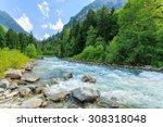 russia. caucasus. mountain... | Shutterstock . vector #308318048