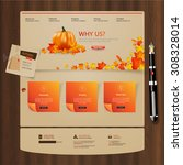 autumn theme website template...