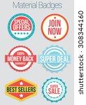 material badges | Shutterstock .eps vector #308344160