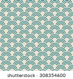 Vintage Wave Pattern. Seamless...
