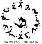 yoga circle | Shutterstock .eps vector #308356646