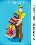 department store back to school ... | Shutterstock . vector #308363213