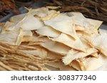 dried shark fin food ingredient ... | Shutterstock . vector #308377340