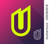 abstract letter u logo icon... | Shutterstock .eps vector #308382818