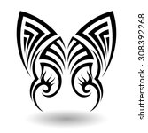 hand drawn tribal tattoo in...   Shutterstock .eps vector #308392268