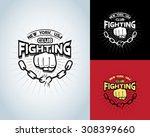 fighting t shirt design ... | Shutterstock .eps vector #308399660