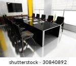 modern room for meetings 3d... | Shutterstock . vector #30840892
