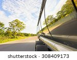Tanker Truck On Road With...