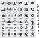 modern communication and online ...   Shutterstock .eps vector #308411888
