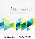 abstract geometric background.... | Shutterstock .eps vector #308420573