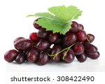 Fresh Ripe Grapes  Isolated On...