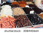 spices  nuts and vegetables in... | Shutterstock . vector #308440664