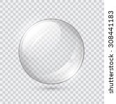 transparent glass sphere  | Shutterstock .eps vector #308441183