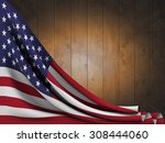flag of the united states on... | Shutterstock . vector #308444060