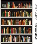 vector bookshelf | Shutterstock .eps vector #308448410