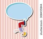 extreme sports  cartoon speech... | Shutterstock . vector #308455844
