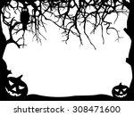 abstract halloween greeting... | Shutterstock .eps vector #308471600