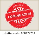 coming soon grunge rubber stamp.... | Shutterstock .eps vector #308472254