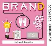 branding concept  creative... | Shutterstock .eps vector #308497100